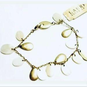 Ralph Lauren Cha Cha Charm Bracelet Gold White